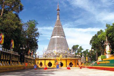 เจดีย์ไตรภพไตรมงคล Phra Maha Chedi Tripob Trimongkol (Stainless Steel)